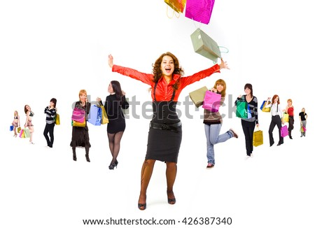 Isolated Concept Money is Happiness  - stock photo