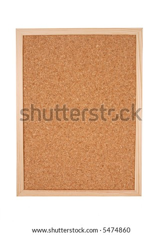 Isolated corkboard with clipping path
