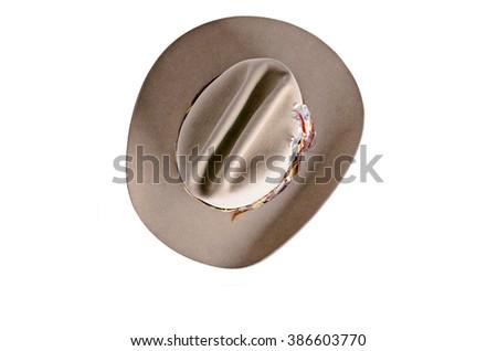 Isolated cowboy hat - stock photo