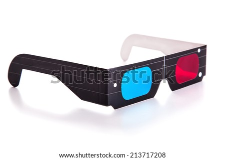 Isolated 3D glasses - stock photo