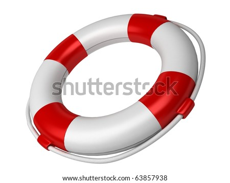 Isolated 3d life buoy