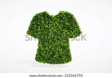 Isolated 3d render ecology clothes concept with white background - stock photo