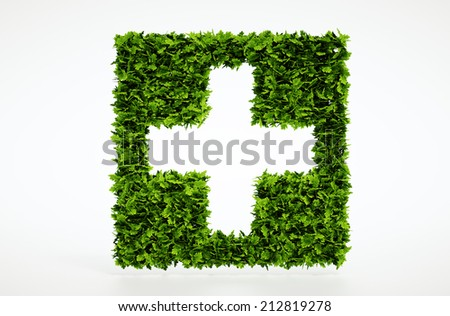 Isolated 3d render medical symbol with white background - stock photo