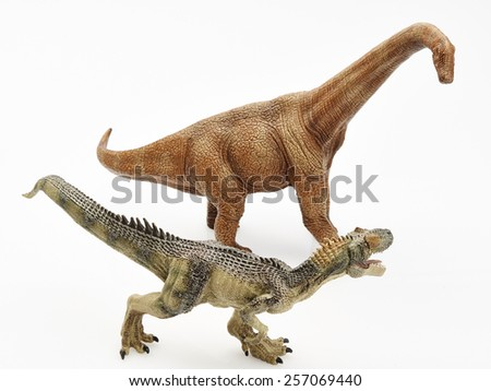 Isolated dinosaur in white background