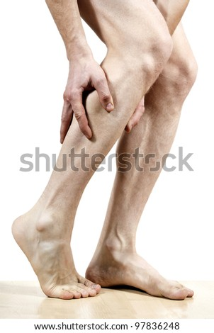 isolated disease of the legs - stock photo