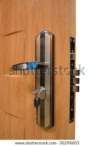 Isolated door with lock and key