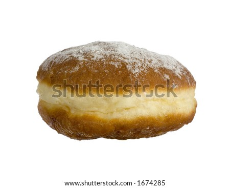 isolated doughnut - stock photo