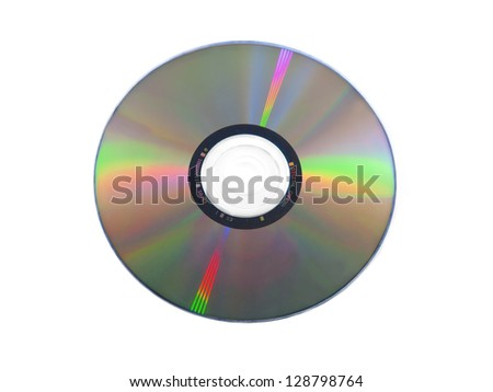 isolated dvd disk on white background