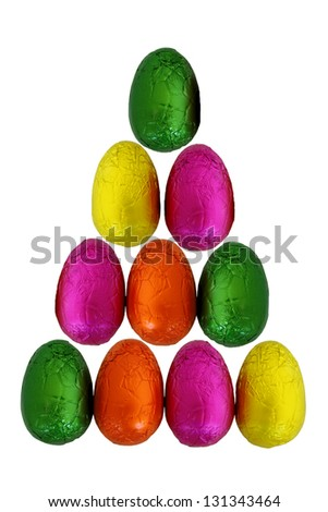 Isolated Easter Eggs 3 - stock photo