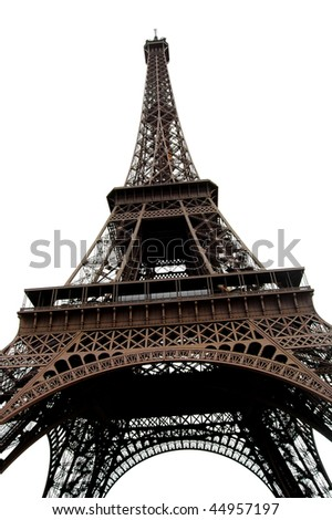isolated eiffel tower, in Paris France