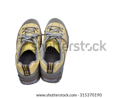 Isolated Engineering shoes on white with clipping path - stock photo