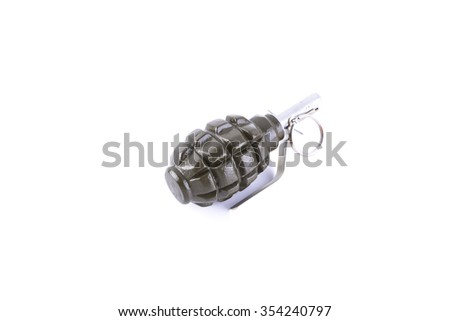 isolated explosive war military combat old grenade