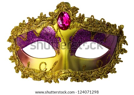 Isolated Fantasy Mask - stock photo