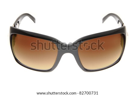 isolated fashion Brown sunglasses on white background