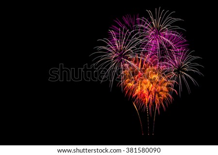Isolated fireworks display - stock photo