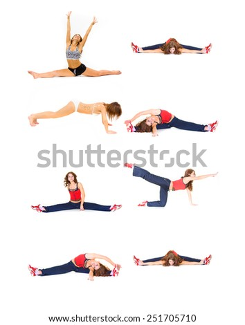 Isolated Fitness Pain and Gain  - stock photo