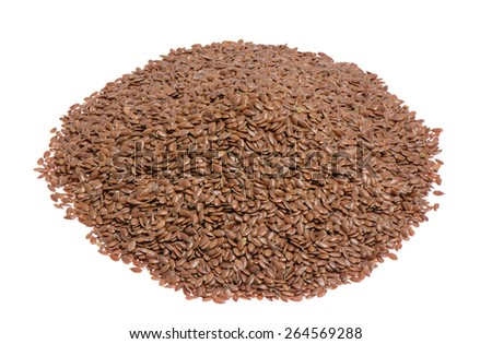 Isolated flaxseed - stock photo