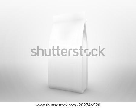 isolated food bag coffee bag use stock illustration 202746520