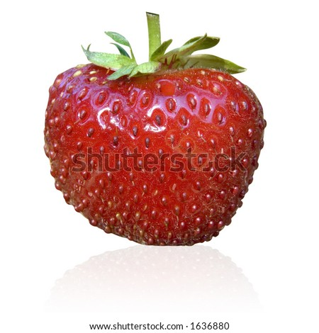 isolated fresh strawberry
