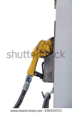 Isolated Fuel pump on white background - stock photo