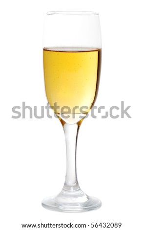 isolated glass of champagne