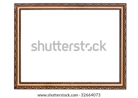 isolated gold frame