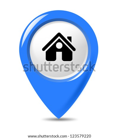 Isolated gps marker on white background. - stock photo