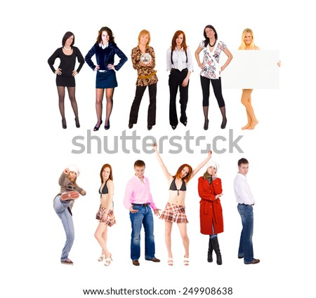 Isolated Groups Business Idea  - stock photo