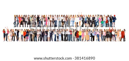 Isolated Groups Corporate Teamwork  - stock photo