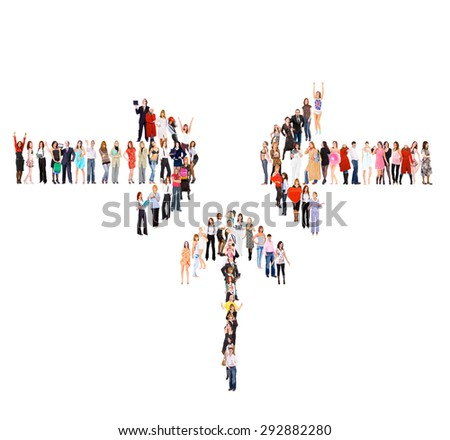 Isolated Groups Many Colleagues  - stock photo
