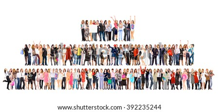 Isolated Groups Together we Stand  - stock photo