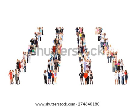 Isolated Groups United Company  - stock photo