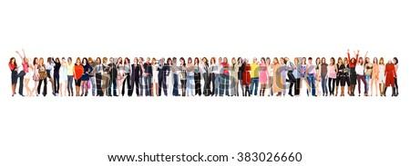 Isolated Groups United Company  - stock photo
