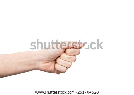 isolated hand - stock photo