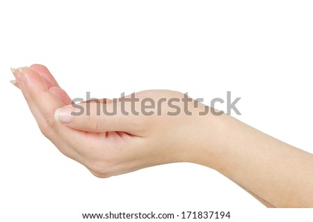 Isolated hand on white background
