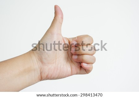 isolated hand thumb up