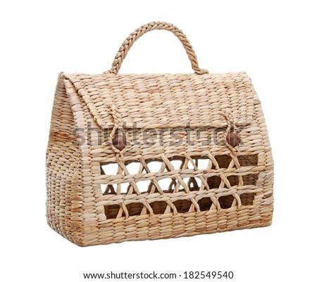 Isolated Handmade Handbag - stock photo