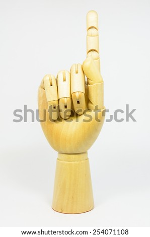 isolated hands show the number one - stock photo