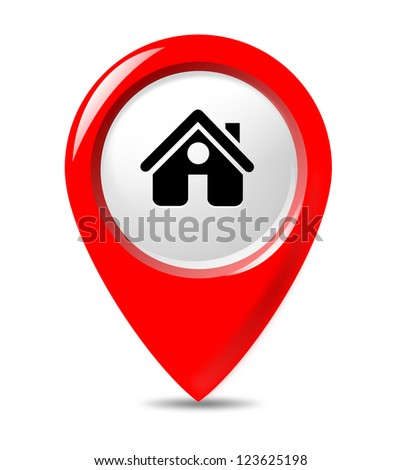 Isolated hotel pointer on white background. - stock photo