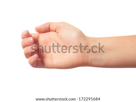 Isolated human hand