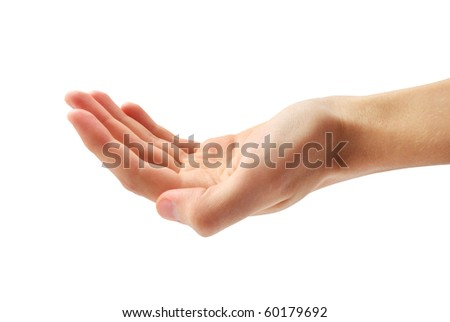 Isolated human hand. Element of design. - stock photo