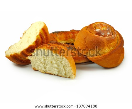 Isolated image of a buns on a white background
