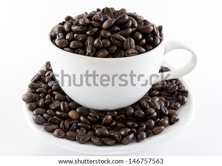 isolated image of a coffee and a cup on white background