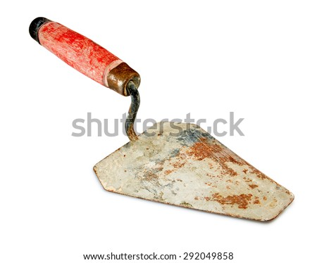 Isolated image of a tool spatula closeup - stock photo