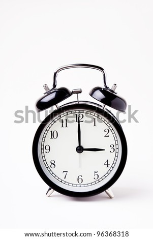 isolated image of alarm clock