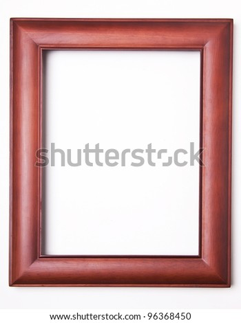 isolated image of brown wood photo frame