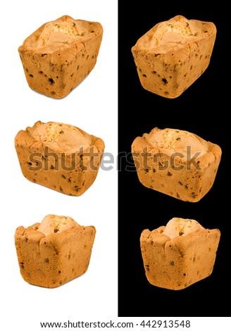 Isolated image of cake close-up - stock photo
