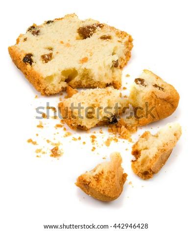 Isolated image of cake on a white background close-up  - stock photo