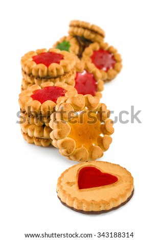 Isolated image of delicious cookies - stock photo