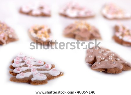 Isolated image of ginger bread